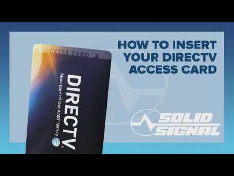 Solid Signal Shows You How To Insert Your DIRECTV Access Card