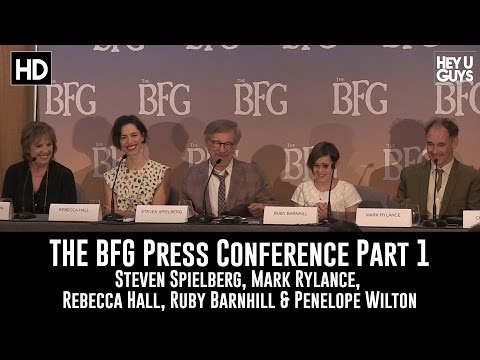 The BFG Press Conference Part 1 - Steven Spielberg, Mark Rylance, Ruby Barnhill, Rebecca Hall