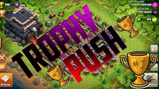 CLASH OF CLANS |+ 450 TROPHY IN 9 h| TH9 TROLL BASE + REPLAY