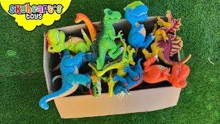 DINOSAUR FIGHT in box! Skyheart Toys Spinosaurus Trex battle dino toys kids