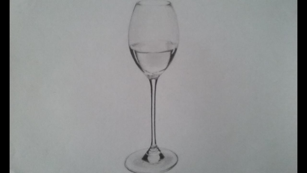 This is how you draw a wine glass youtube for How to draw on wine glasses