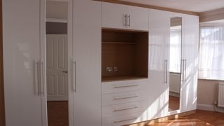 Fitted Wardrobes Oak Gloss White