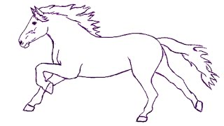 How to Draw a Horse Step by Step | Draw a Horse Easily for Kids | Draw a Horse for Beginners