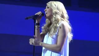 Carrie Underwood - Jesus take the wheel and  How Great Thou Art LIVE!