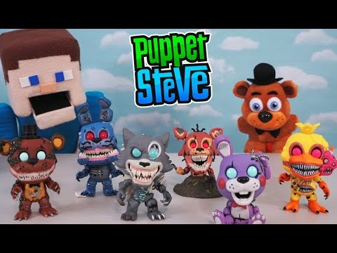 Five Nights At Freddy's Funko Twisted Ones Pop Figures FNAF Set Unboxing Puppet Steve