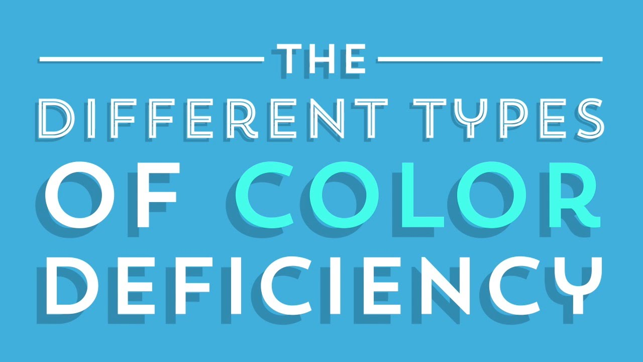 The Different Types of Color Deficiency (Color Blindness) - YouTube