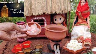 Ramadan special Hyderabadi Dum Briyani  Briyani recipe Miniature cooking Barbie Tiny food