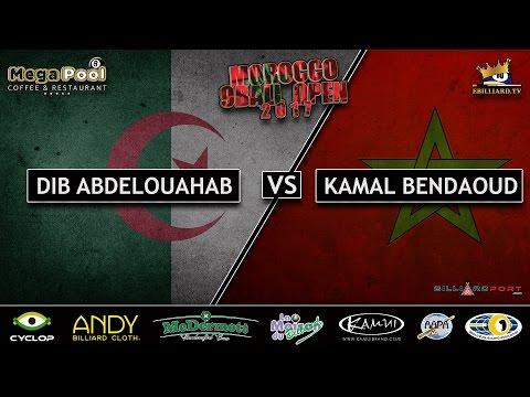 Morocco 9 Ball Open 2017 - Dib Abdelouahab vs Kamal Bendaoud (FULL HD)