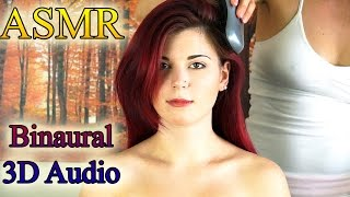 Binaural ASMR Hair Brushing & Scalp Massage Relaxation Tips - Soft Spoken,  Ear to Ear & Whisper