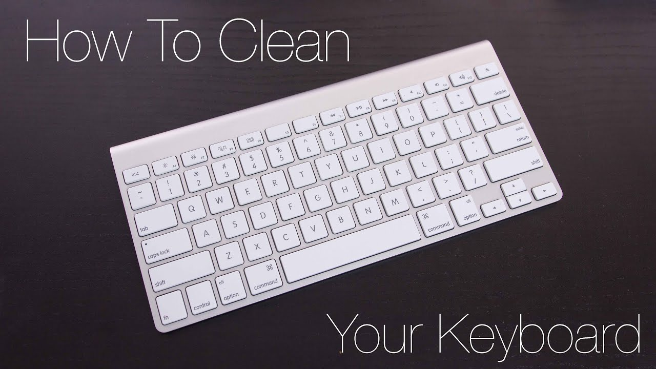 youtube how to clean a macbook pro keyboard