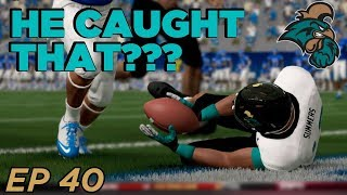 He caught that ON THE GROUND!!!   - NCAA Football 14 Dynasty | Coastal - Ep 40
