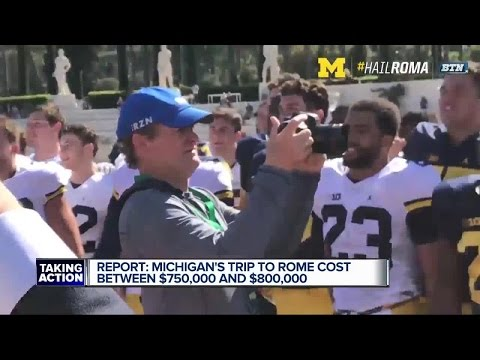 Michigan's Rome trip cost between $750,000-800,000