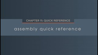 Chapter 11.1 Quick reference guide