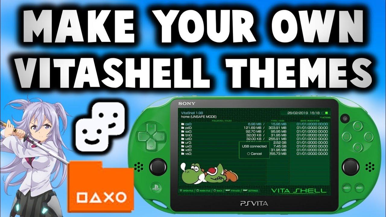 PS Vita Creating Custom VitaShell Themes!
