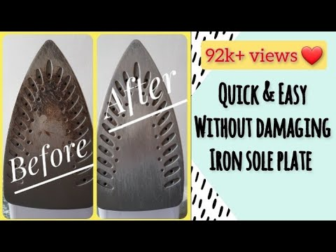 Iron box stain remover | How to clean Iron bottom | How to Clean a Steam Iron | DIY with RJ
