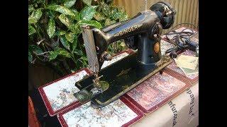 Antique Old Vintage Electric  Singer sewing machine Model 201k See Video