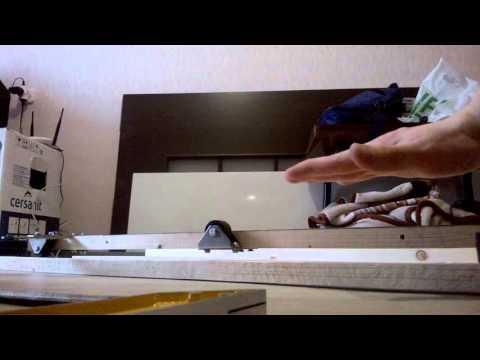 Дверь купе межкомнатная, механизм своими руками