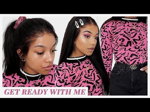 90s inspired makeup, hair & outfit | GET READY WITH ME (ft. mychicwigs)