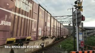 2017(H29)/7/22 今年も撮影しました。高速貨物コンテナ列車中心に30本 ln 島本
