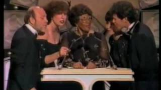 Ella Fitzgerald and Manhattan Transfer sing together at Grammy in 1...