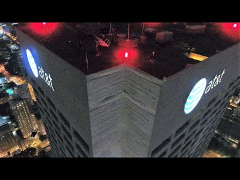UAV/Drone Views of Atlanta's 8th Tallest Skyscraper (AT&T Midtown Center) with Midtown Skyline