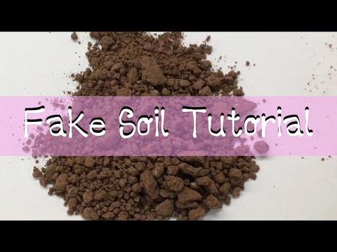 how to make fake soil