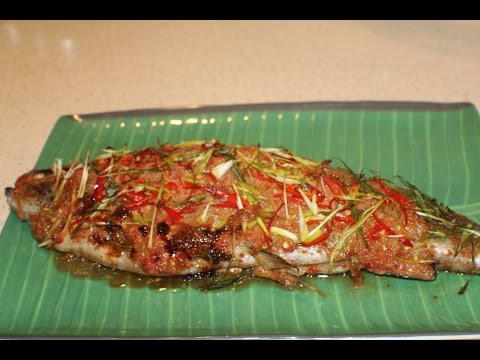 Baked Whole Fish With Spicy Tamarind And Chillie Sauce