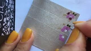 Adesivos de unhas na caixa de leite: Inspiração flor ROSA da Cassia Adesivos