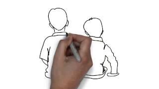 How To Draw Boys Sitting