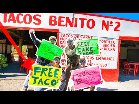 OPENING a FREE TACO STAND in Mexico! ( FEEDING HUNGRY KIDS )