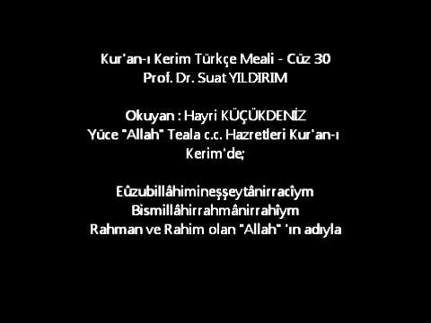 Kur'an-ı Kerim Türkçe Meali - Cüz 30