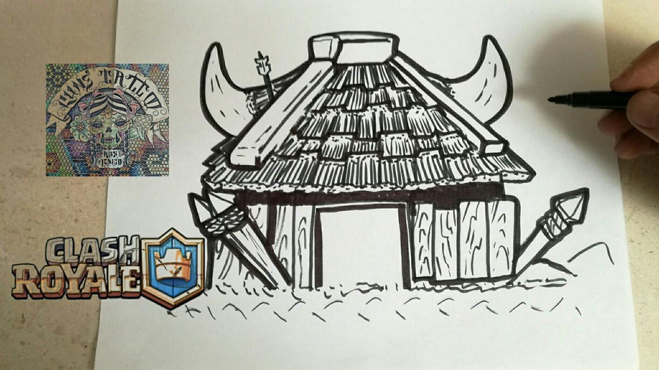 Dibujos Para Dibujar De Clash Royale: COMO DIBUJAR LA CHOZA DE LOS DUENDES