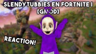 Tinky Winky watching - Slendytubbies En Fortnite | [GMOD] Reaction!