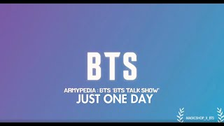 BTS - ARMYPEDIA TALK SHOW (Live Band Ver.) | Just One Day (하루만)