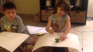 Martinez kids Skylander Foodfight drawing competition