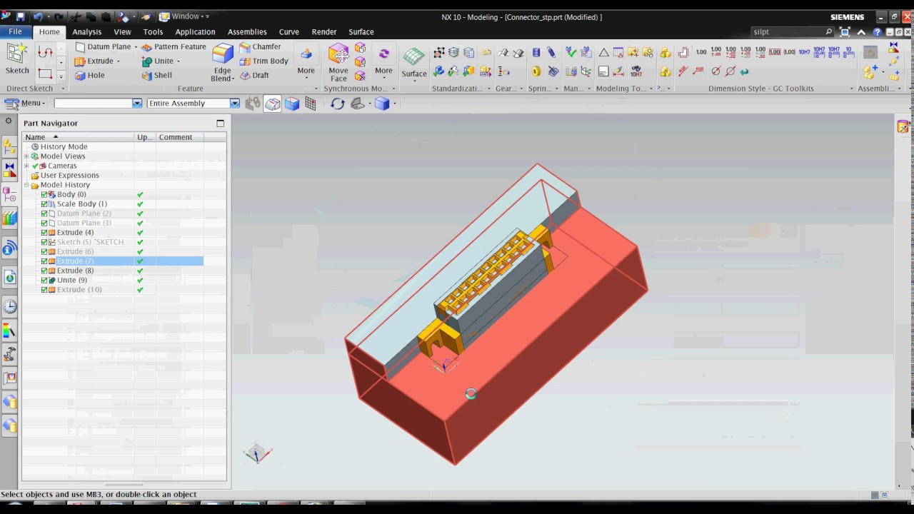 Core & cavity extraction using extrude and subtract command