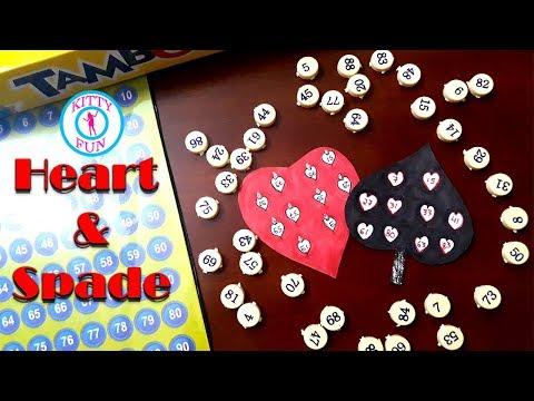 Heart And Spade Couple  Tambola Game | Casino Theme Tambola