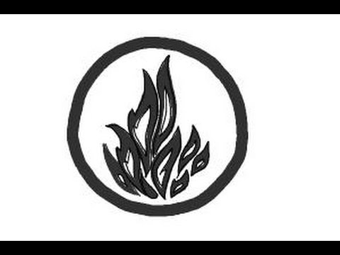 How To Draw Dauntless The Brave Logo From Divergent Youtube