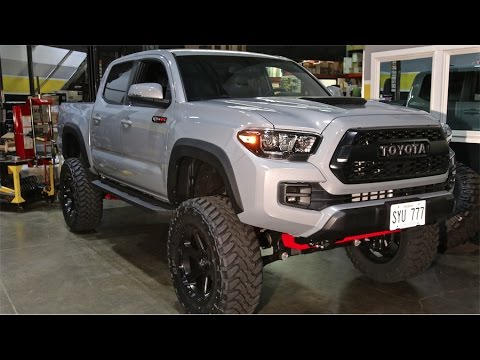 "2017 TRD PRO Tacoma: 6"" BDS, 35"" Toyo MTs on 20x9 Fuel Ripper Wheels"