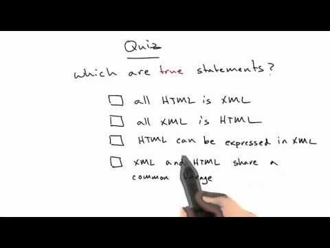 XML And HTML - Web Development