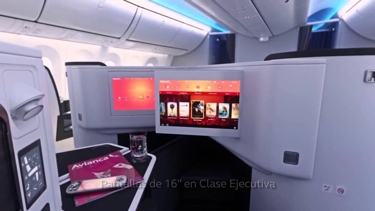 Boeing 787 dreamliner avianca for Interior 787 avianca