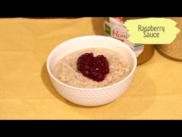 Porridge With Raspberry Sauce ????????????????????????????