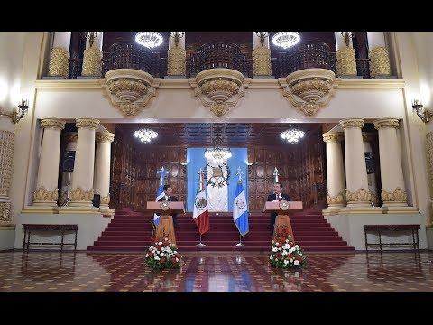Visita de Estado a Guatemala: Firma de Documentos y Mensaje a Medios
