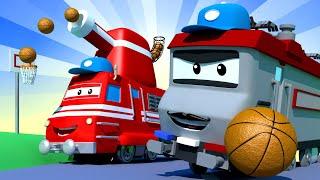 Troy der Zug -  Der Basketballzug  - Autopolis 🚄 Lastwagen Zeichentrickfilme für Kinder