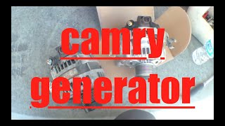 How to replace alternator generator Toyota Camry √(2007 2008 2009 2010 2011 Toyota Camry, 4 cylinder. 2007 Toyota Camry. Replacing the alternator generator. The information contained in this video is for ..., 2014-09-29T14:00:16.000Z)