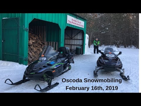 Oscoda Michigan Snowmobiling 2019