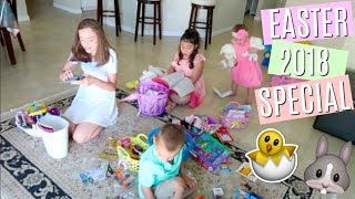 EASTER MORNING SPECIAL 2018! WHAT DID WE GET IN OUR EASTER BASKETS? SQUISHIES, SLIME + MORE!