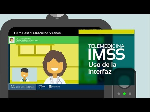 Telemedicina IMSS, uso de la interfaz