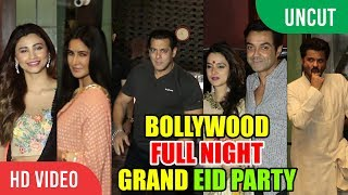 Bollywood GRAND EID Party | FULL NIGHT PARTY |  Salman Khan Family Race 3 Team