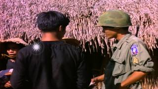 Soldiers search, question and lead out Vietcong suspects during the Vietnam War i...HD Stock Footage